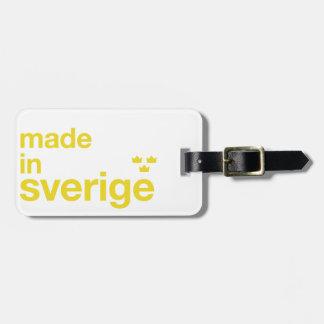 スウェーデン及びTreのクローナ/3つの王冠で作られる ラゲッジタグ