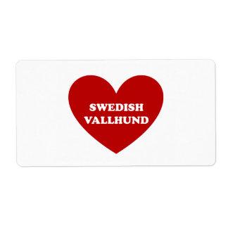 スウェーデン語Vallhund ラベル