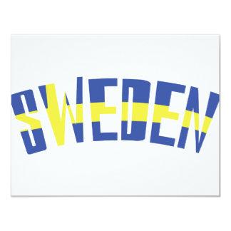 スウェーデン黄色く青いアイコン カード