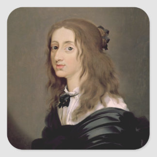 スウェーデン1652年のクリスティーナ女王 スクエアシール