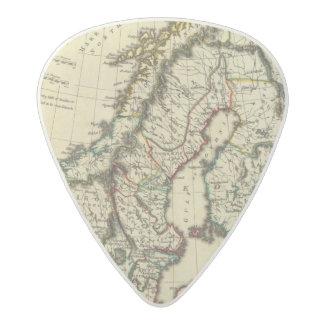 スウェーデン、デンマーク、輪郭を描かれる境界のノルウェー アセタール ギターピック