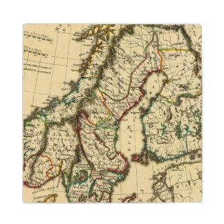 スウェーデン、デンマーク、輪郭を描かれる境界のノルウェー ウッドコースター