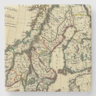 スウェーデン、デンマーク、輪郭を描かれる境界のノルウェー ストーンコースター