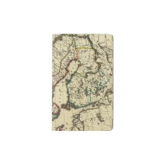 スウェーデン、デンマーク、輪郭を描かれる境界のノルウェー ポケットMoleskineノートブック