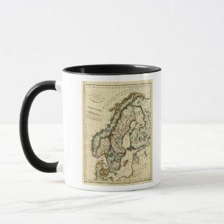 スウェーデン、デンマーク、輪郭を描かれる境界のノルウェー マグカップ