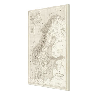 スウェーデン、ノルウェーおよびデンマーク2 キャンバスプリント