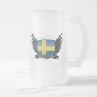 スウェーデン フロストグラスビールジョッキ