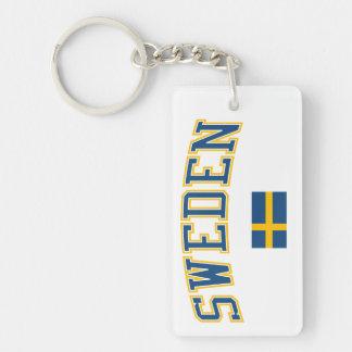 スウェーデン + 旗 キーホルダー