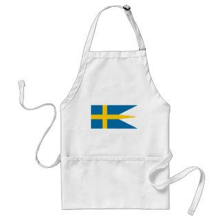スウェーデン- Sverigesのflaggaの旗-スウェーデンの旗 スタンダードエプロン