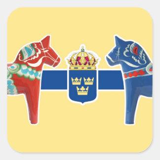 スウェーデンDalaの紋章付き外衣 スクエアシール
