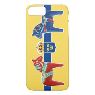 スウェーデンDalaの紋章付き外衣 iPhone 8/7ケース
