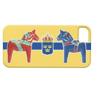 スウェーデンDalaの紋章付き外衣 iPhone SE/5/5s ケース