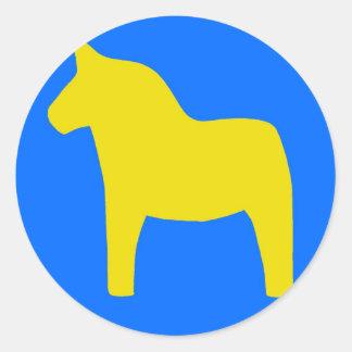 スウェーデンDalaの馬 ラウンドシール