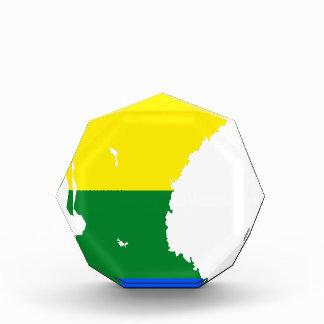 スウェーデンLGBTの旗の地図 表彰盾