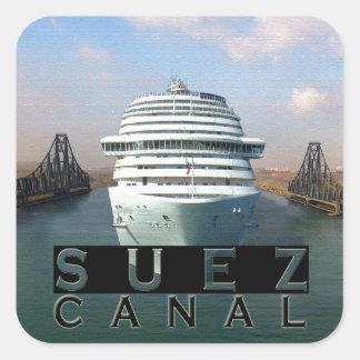 スエズ運河 正方形シールステッカー