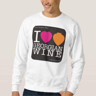 """スエットシャツ""""私は愛しますジョージ王朝のワイン""""を スウェットシャツ"""