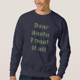 スエットシャツ-親愛なサンタ スウェットシャツ