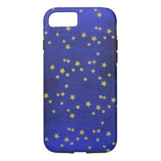 スエードの青く小さい星のiPhone 7の細い薬莢 iPhone 8/7ケース