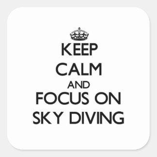 スカイダイビングの平静そして焦点を保って下さい スクエアシール