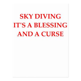 スカイダイビング ポストカード