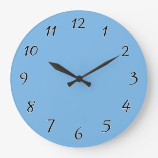 スカイブルーのテンプレート ラージ壁時計