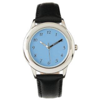 スカイブルーのテンプレート 腕時計