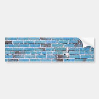 スカイブルーのヴィンテージのレンガ壁の質 バンパーステッカー