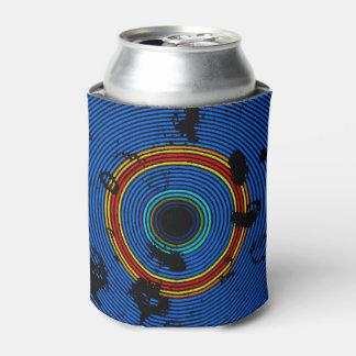 スカイブルーの多彩なビニールディスク質パターン 缶クーラー
