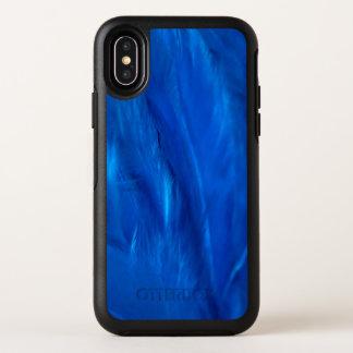 スカイブルーの羽および オッターボックスシンメトリー iPhone X ケース