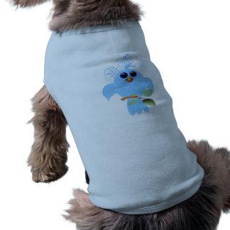 スカイブルーの鳥ペット衣類 ペット服