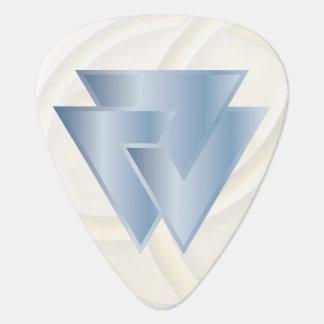 スカイブルーのNorseのValknutの記号-ギターPic ギターピック