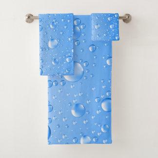 スカイブルー雨低下 バスタオルセット