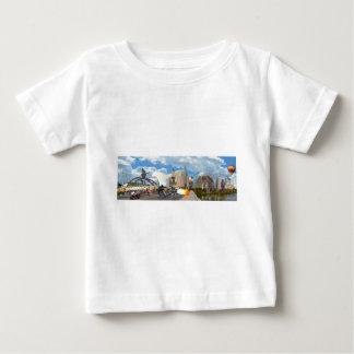 スカイラインのオースティンのパノラマ ベビーTシャツ