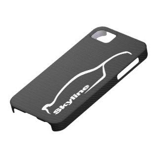 スカイラインの白いシルエットのロゴ iPhone SE/5/5s ケース