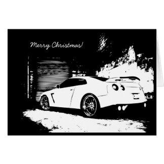 スカイラインのGTRクリスマスの休日カード カード