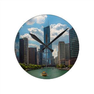 スカイラインシカゴ ラウンド壁時計