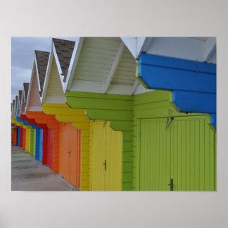 スカボロのビーチ小屋 ポスター