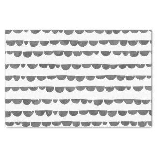 スカラップで仕上がる元のモダンな灰色白の水彩画 薄葉紙