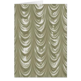スカラップで仕上げられたパターンが付いているクリームによって着色されるサテンの生地 カード