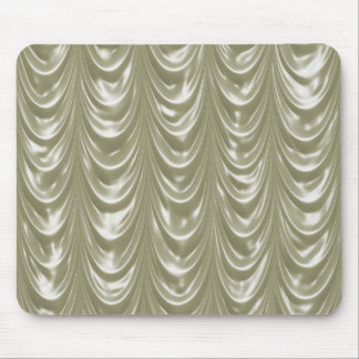 スカラップで仕上げられたパターンが付いているクリームによって着色されるサテンの生地 マウスパッド