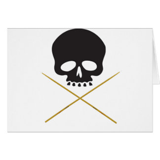 スカルおよびばち状核突起の骨が交差した図形 カード