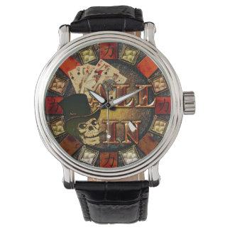 スカルおよびシガーすべて 腕時計