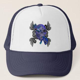 スカルおよびドラゴンの入れ墨の帽子 キャップ