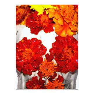 スカルおよびマリーゴールドの花 カード