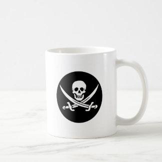 スカルおよび交差させた剣の海賊旗 コーヒーマグカップ