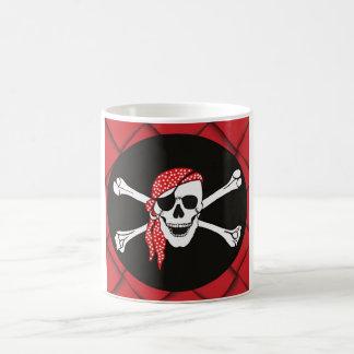 スカルおよび交差させた骨の海賊旗 コーヒーマグカップ