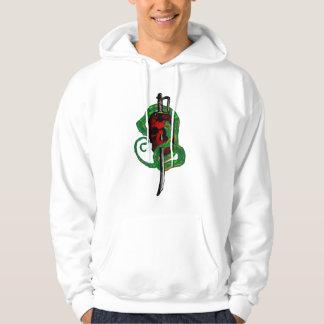 スカルおよび剣のフード付きスウェットシャツで包まれたなヘビ パーカ