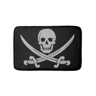 スカルおよび剣の海賊バス・マット バスマット