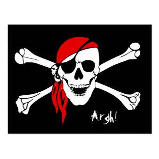 スカルおよび十字の骨の海賊 ポストカード