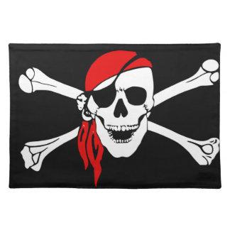 スカルおよび十字の骨の海賊 ランチョンマット